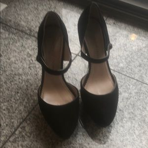 """Shoes - Black suede 5"""" Mary Jane heels"""